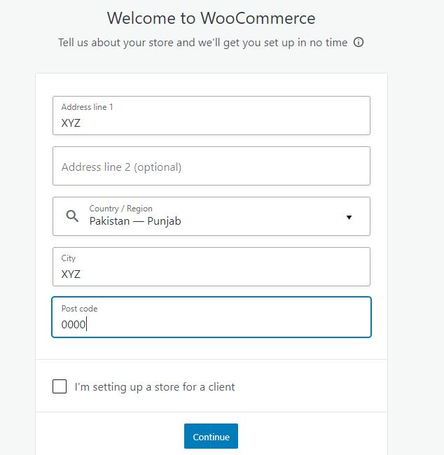 Step 2 - woocommerce tutorial