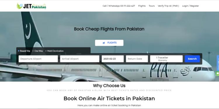 jet pakistan - best online airline ticket websites in pakistan