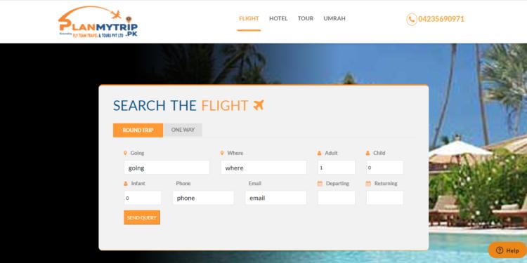 plan my trip- best online airline ticket website in pakistan
